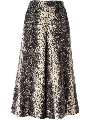 Широкие брюки Manoush. Цвет: телесный