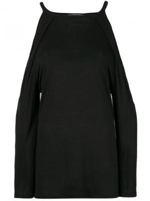 Топ с открытыми плечами Camna Iro. Цвет: чёрный