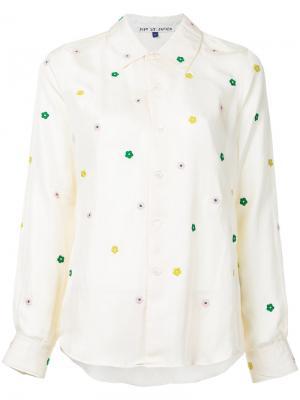 Floral embroidery shirt Jupe By Jackie. Цвет: жёлтый и оранжевый