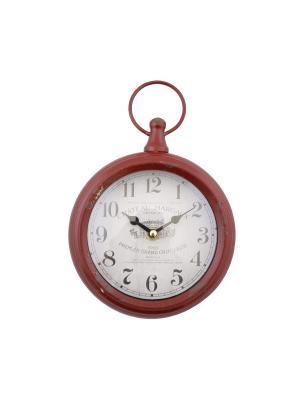 Часы настенные 16*21*4см PATRICIA. Цвет: красный