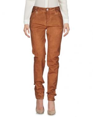 Повседневные брюки LEROCK. Цвет: коричневый