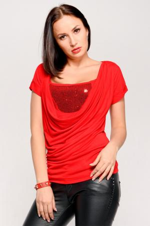 Блуза PunkQueen. Цвет: красный