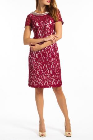 Платье TOK. Цвет: vinous