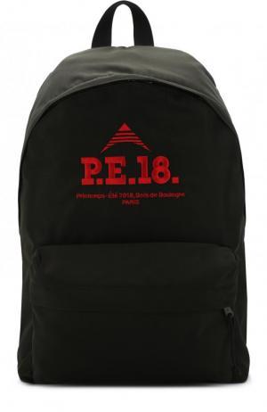 Текстильный рюкзак с внешним карманом на молнии Balenciaga. Цвет: хаки