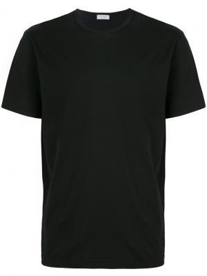 Классическая футболка Sunspel. Цвет: чёрный