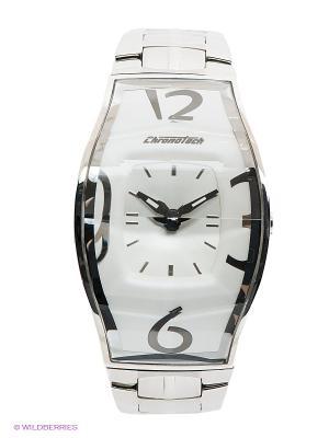 Часы Chronotech. Цвет: серебристый