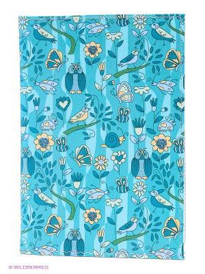 Обложка для автодокументов Голубой принт с птичками Mitya Veselkov. Цвет: бирюзовый, желтый, зеленый