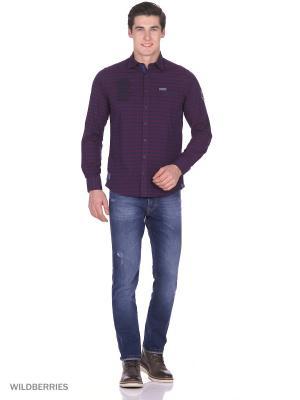 Рубашка Boston Brothers. Цвет: бордовый, темно-синий