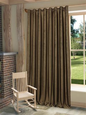 Готовая штора Хилари SANPA HOME COLLECTION. Цвет: коричневый