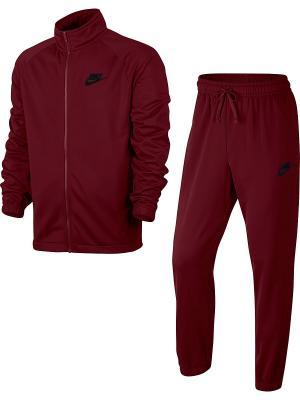 Спортивный костюм M NSW TRK SUIT PK BASIC Nike. Цвет: бордовый
