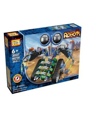 Электромеханический конструктор IROBOT. Серия: Роботы. МотоЛокатор Loz. Цвет: синий