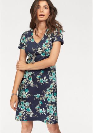 Платье BOYSENS BOYSEN'S. Цвет: темно-синий/бирюзовый