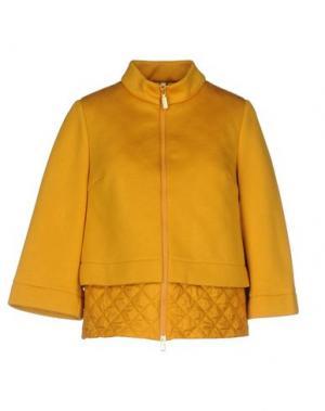 Пальто GEOSPIRIT. Цвет: охра
