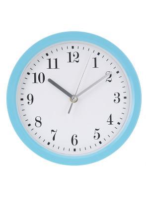 Часы настенные Цифры-завитки в голубой оправе (22,6 см) NAST242 Mitya Veselkov. Цвет: голубой
