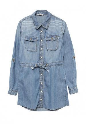 Платье джинсовое Pepe Jeans. Цвет: голубой
