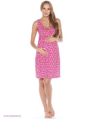 Ночная сорочка impressmama. Цвет: розовый