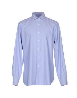 Pубашка BARBA NAPOLI. Цвет: синий