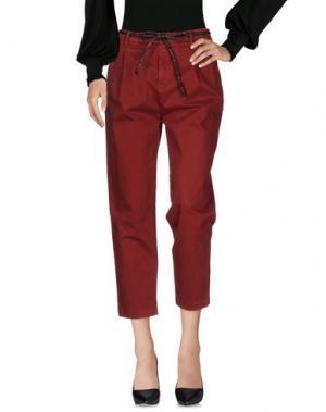 Повседневные брюки MYTHS. Цвет: кирпично-красный