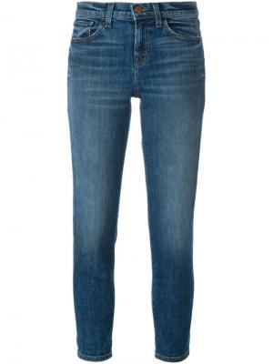 Выбеленные джинсы J Brand. Цвет: синий