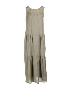 Длинное платье SOUVENIR. Цвет: серый