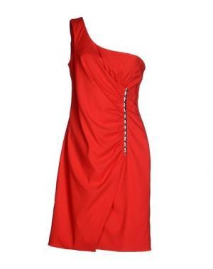 Короткое платье X'S MILANO. Цвет: красный