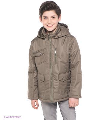 Куртка Аксарт. Цвет: серо-зеленый