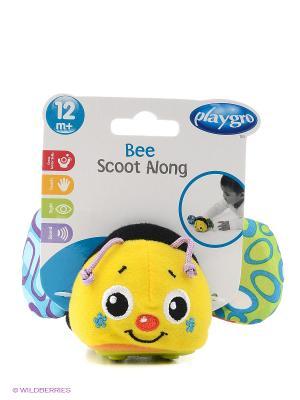 Playgro Игрушка инерционная Пчелка 0183040. Цвет: желтый, черный, синий, зеленый