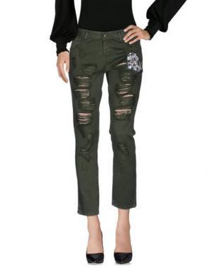 Повседневные брюки ECO. Цвет: зеленый-милитари