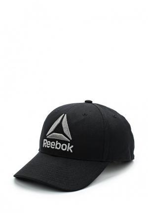 Бейсболка Reebok. Цвет: черный