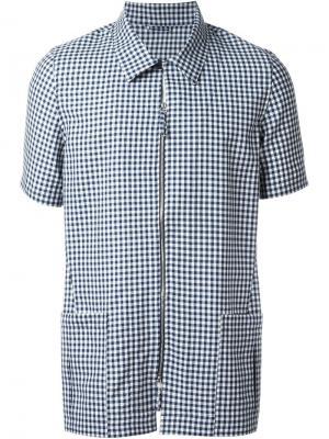 Рубашка в стиле сафари E. Tautz. Цвет: синий