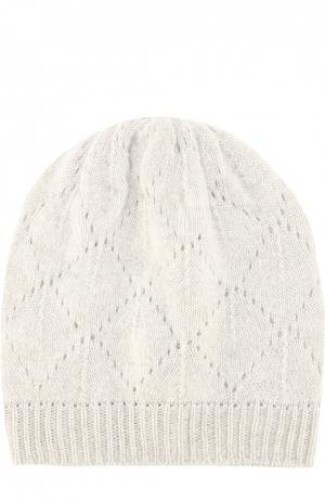 Вязаная шапка из кашемира Johnstons Of Elgin. Цвет: светло-серый