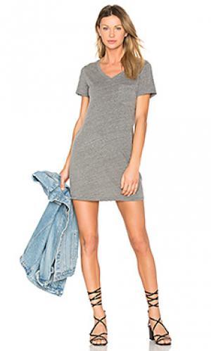 Платье из джерси с карманом Michael Stars. Цвет: серый
