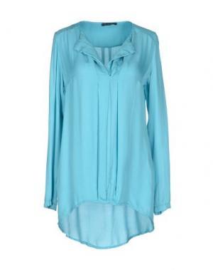 Блузка OLLY DOO. Цвет: бирюзовый
