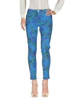 Повседневные брюки BLEULAB. Цвет: лазурный