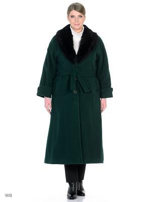 Пальто Castlelady. Цвет: темно-зеленый