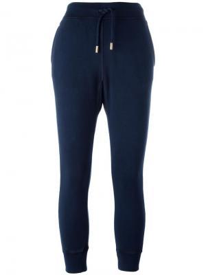 Спортивные брюки с принтом стакана Dsquared2. Цвет: синий