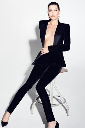 Черные бархатные брюки Alexandre Vauthier. Цвет: черный