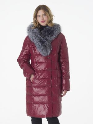 Утеплённое пальто CATTAIL WILLOW. Цвет: бордовый