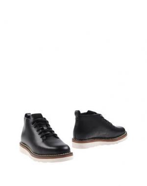 Полусапоги и высокие ботинки FEIT. Цвет: черный