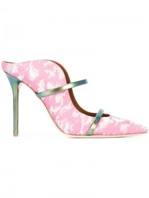 Жаккардовые мюли Maureen Malone Souliers. Цвет: розовый и фиолетовый