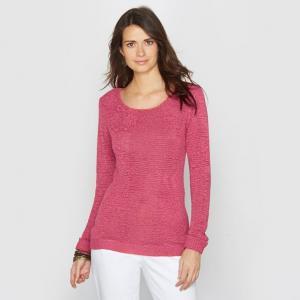 Пуловер из трикотажа ANNE WEYBURN. Цвет: экрю