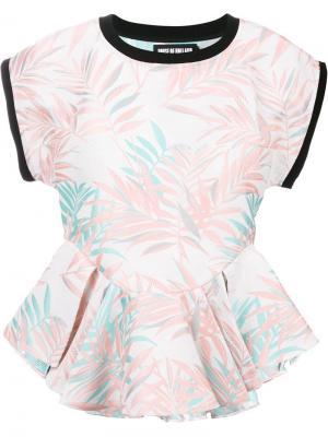Блузка с оборками House Of Holland. Цвет: розовый и фиолетовый