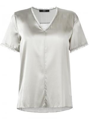 Блузка с V-образным вырезом Steffen Schraut. Цвет: телесный