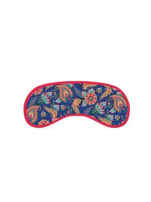 Маска для сна из полиэстера с поролоновым наполнителем и двойной эластичной резинкой Magic Home. Цвет: голубой