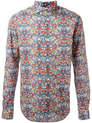 Рубашка с цветочным узором Xacus. Цвет: многоцветный