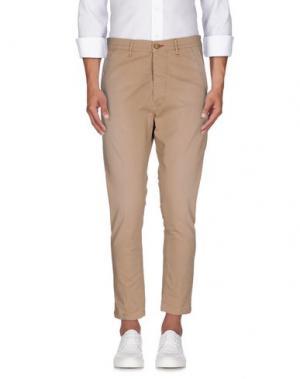 Повседневные брюки 0/ZERO CONSTRUCTION. Цвет: верблюжий
