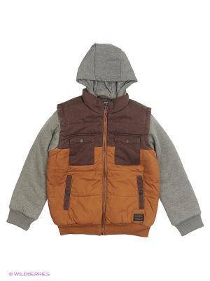Куртка Quiksilver. Цвет: коричневый