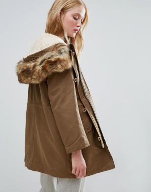 Parka London Парка 3 в 1 с подкладкой виде куртки-пилот Alexia. Цвет: зеленый