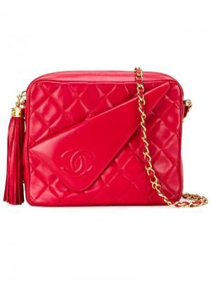 Сумка через плечо Chanel Vintage. Цвет: красный