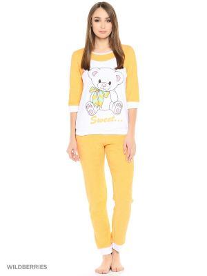 Пижама MARSOFINA. Цвет: оранжевый